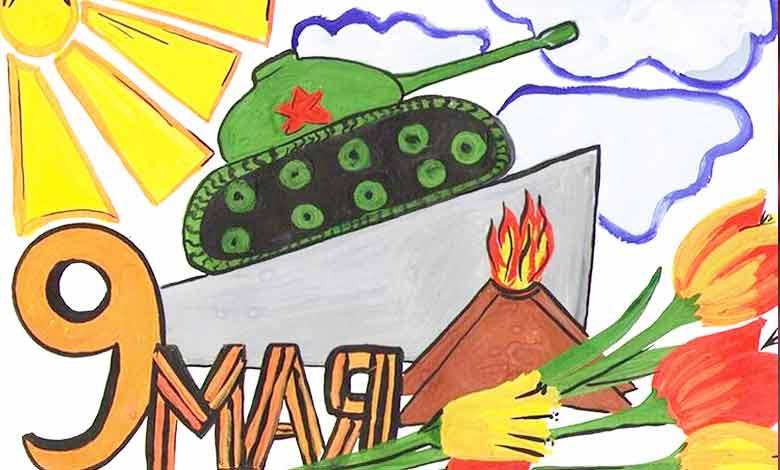 Детские рисунки к 9 Мая на день Победы — 100 примеров